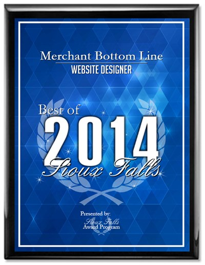 2014 Website Award to Merchant Bottom Line