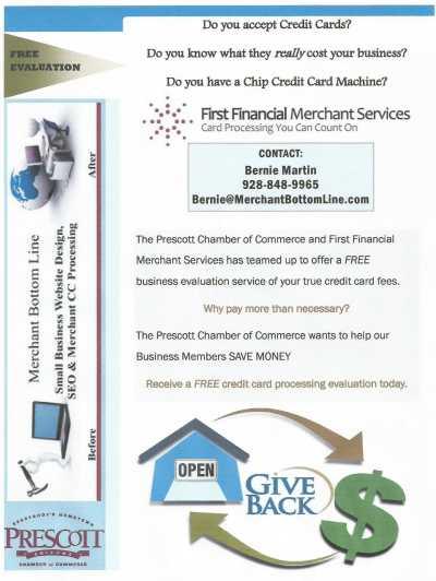 Flyer for Precott Chamber of Commerce